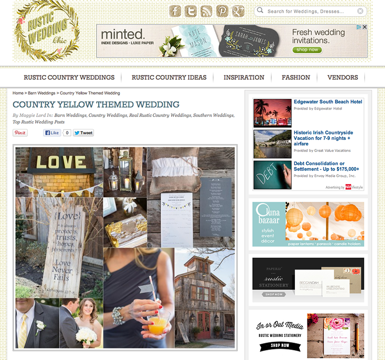 Published on Rustic Wedding Chic