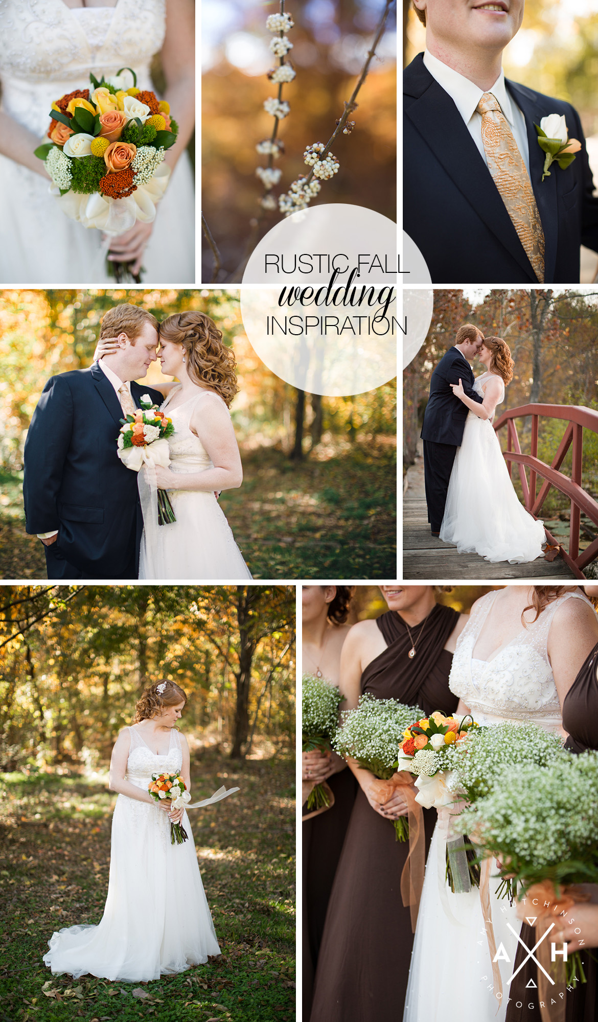 Woodland Rustic Fall Wedding Inspiration
