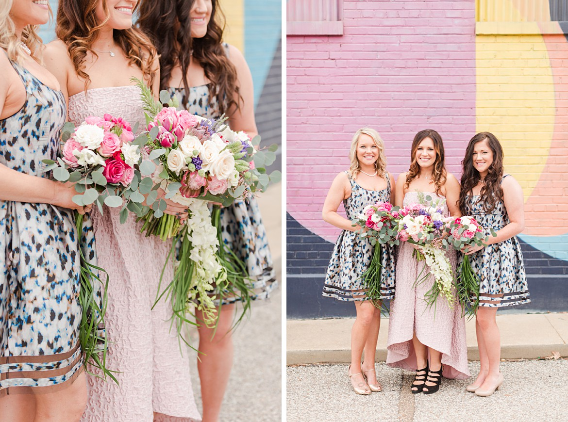 Blush Wedding Inspiration with Lots of Color and Pattern on Ruffled