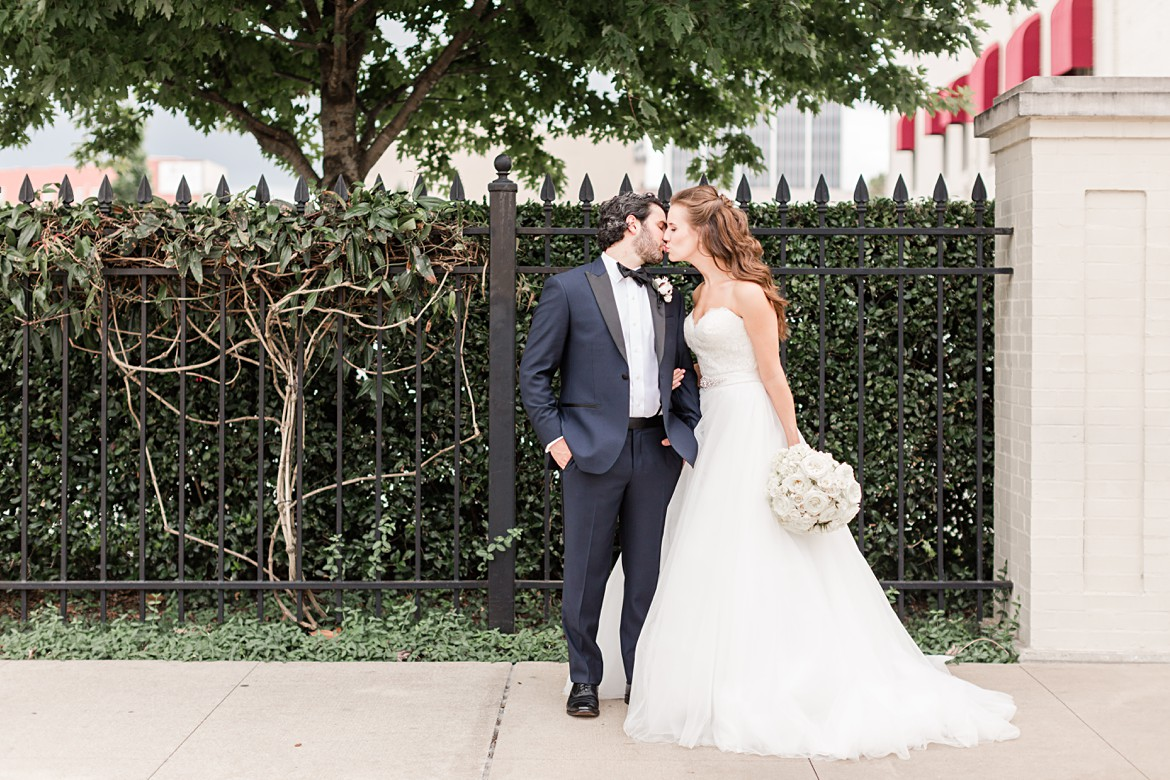 Blush and Navy Capital Hotel Wedding in Little Rock