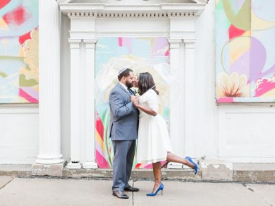 Downtown Memphis Winter Elopement
