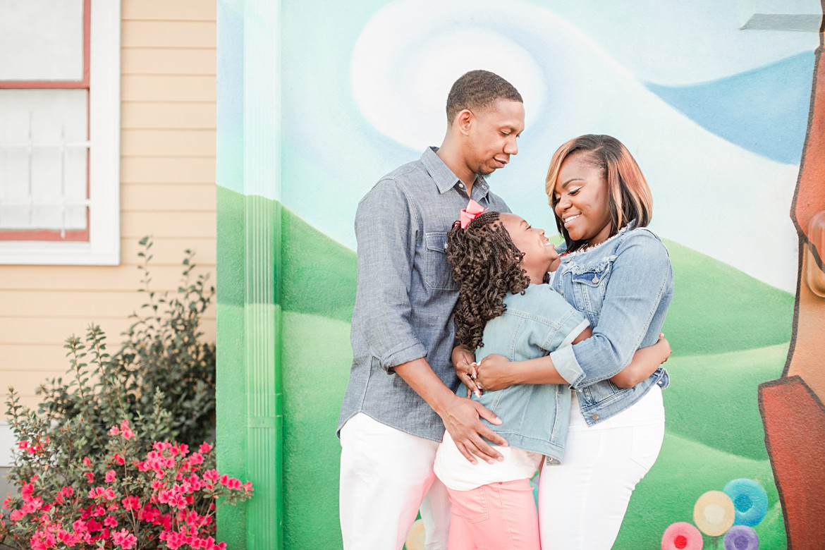 Colorful Midtown Memphis Engagement