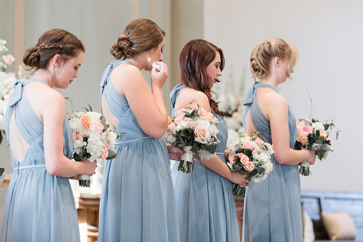 Elegant Blue and Pink Memphis Wedding