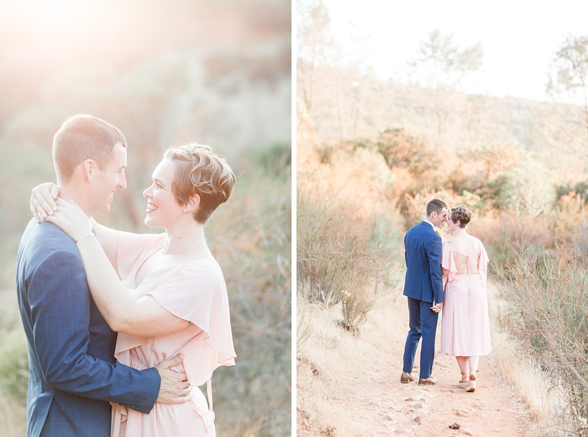 Sunset El Dorado Hills Engagement in Sacramento, California