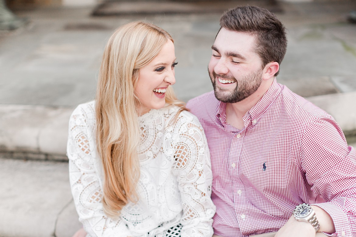 Stylish Memphis Engagement with Vintage Car