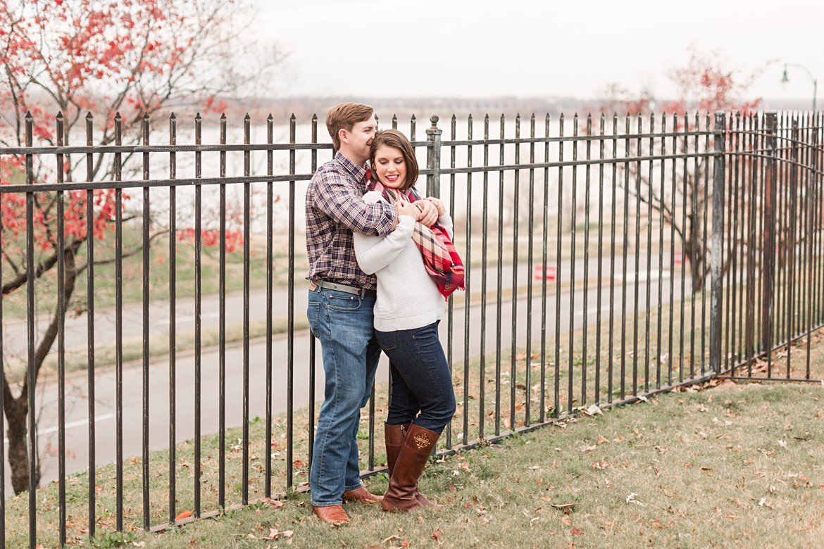 Colorful Downtown Memphis Winter Engagement