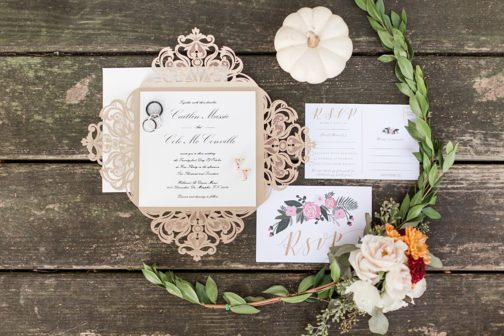 Navy Pink Boho Memphis Wedding