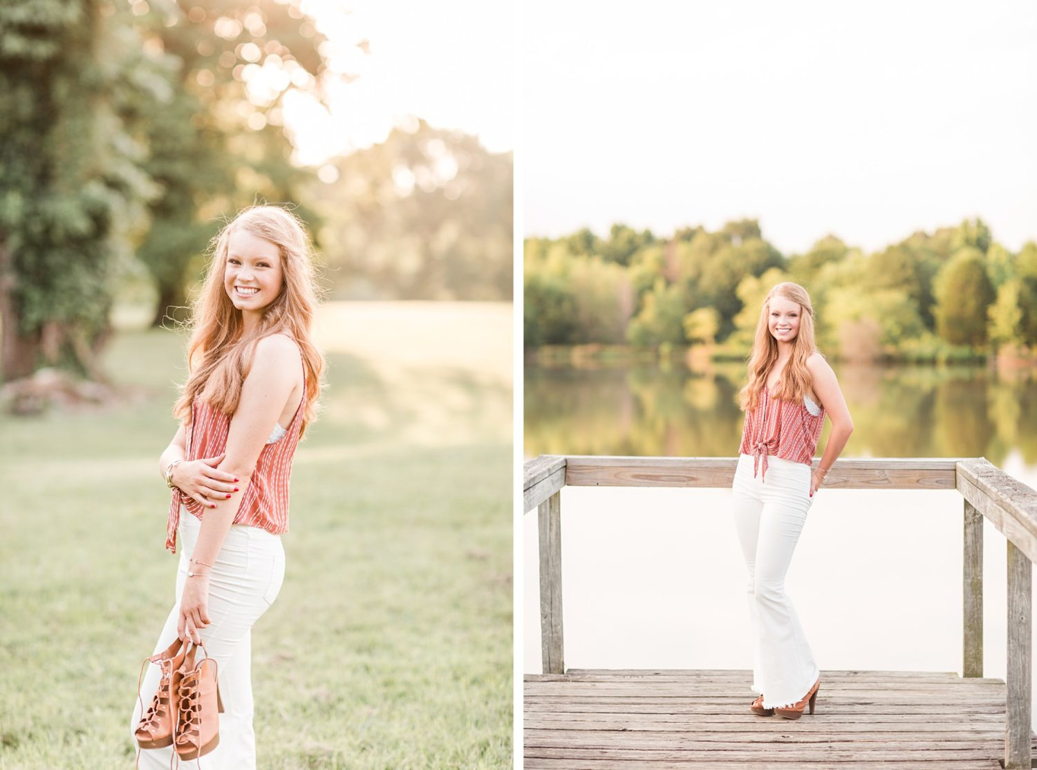 Summer Memphis Natural Farm Senior Session