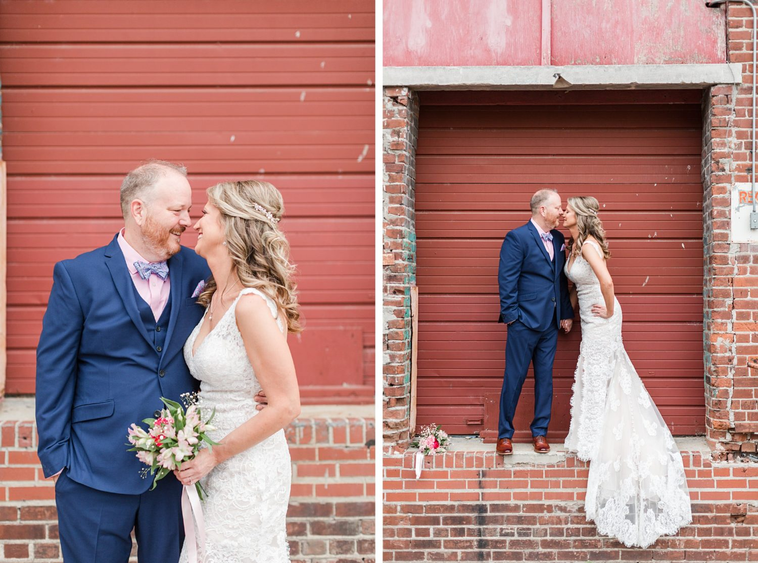 Intimate Summer Downtown Memphis River Wedding