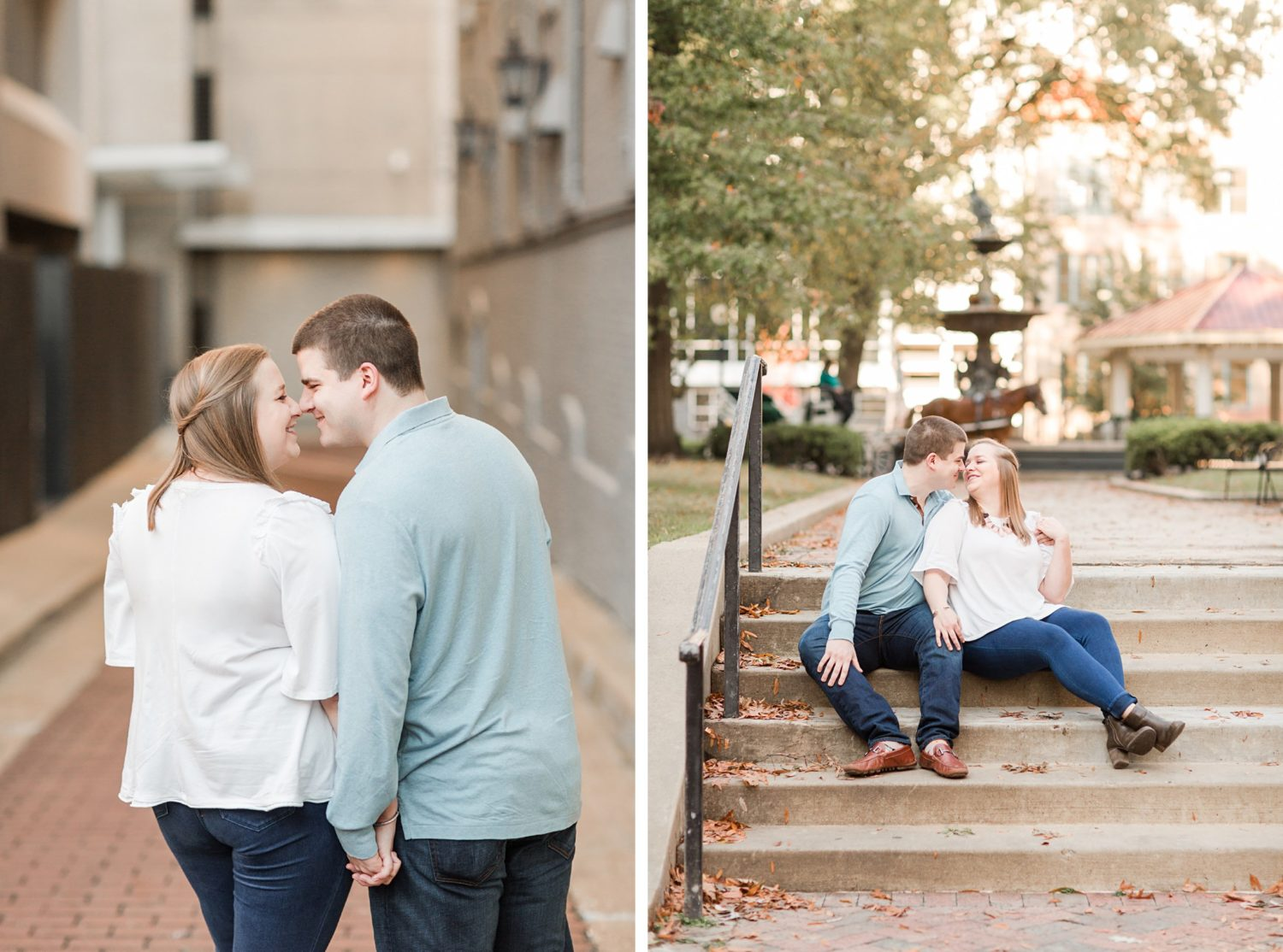 Downtown Memphis Winter Engagement on the River
