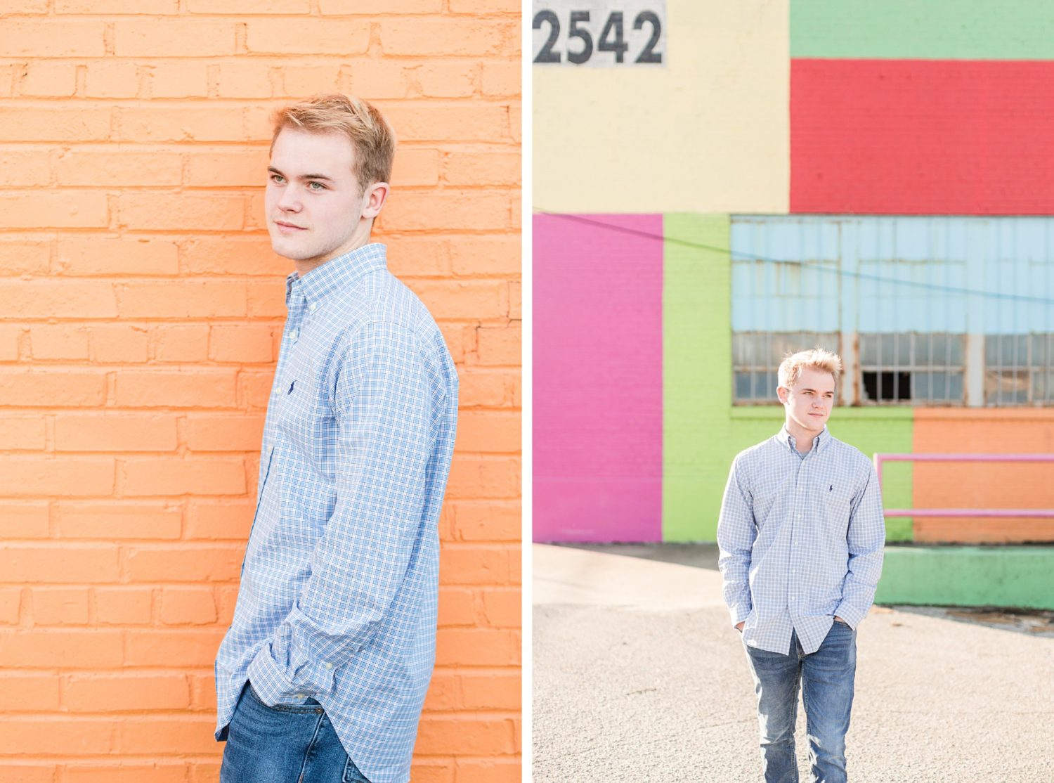 Winter Memphis Senior Guy Portrait Session