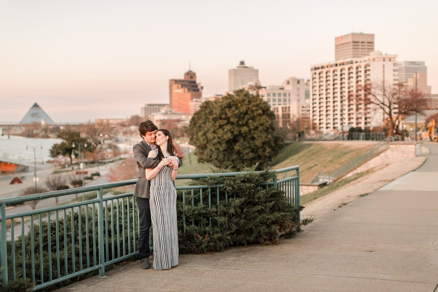 Sunny Spring Downtown Memphis Engagement