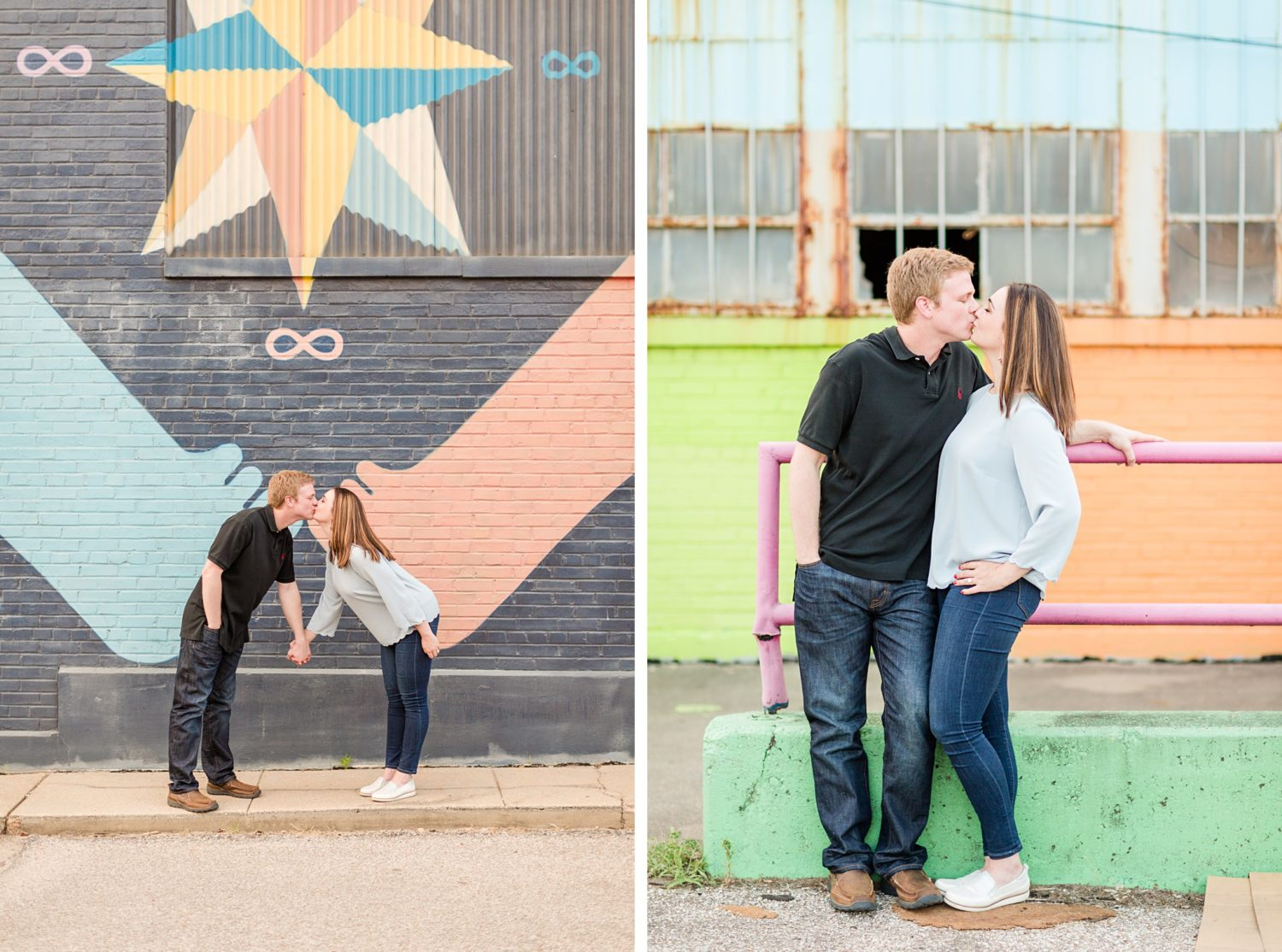 Colorful Memphis Broad Street Engagement Session
