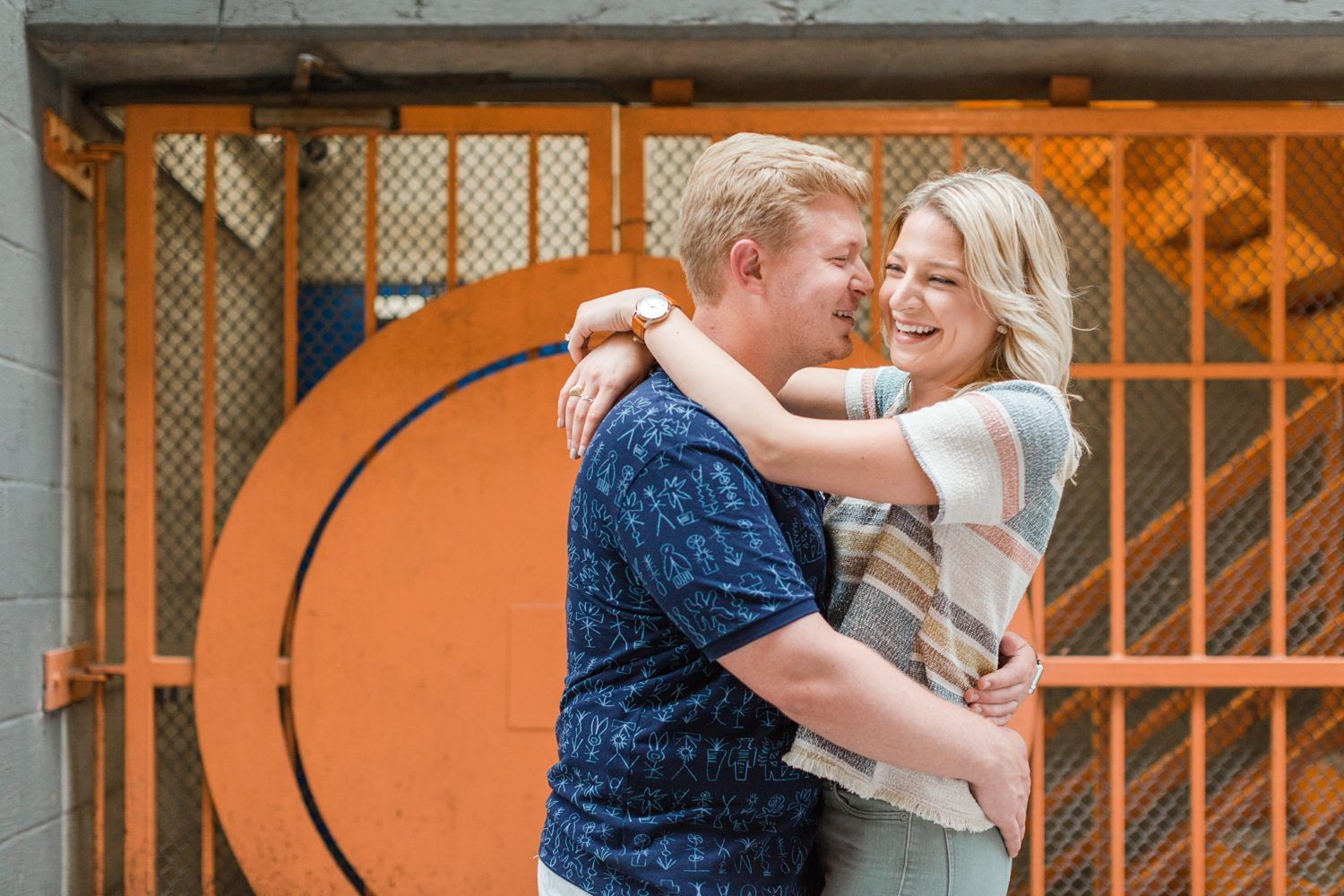 Colorful Urban Memphis Engagement Session
