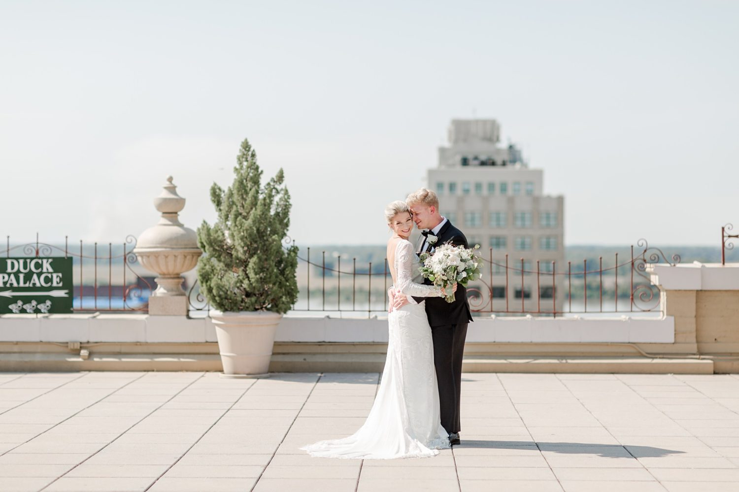 Black and White Downtown Memphis Cadre Wedding