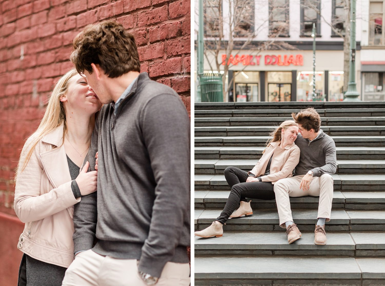 Downtown Memphis Winter Engagemnt Session