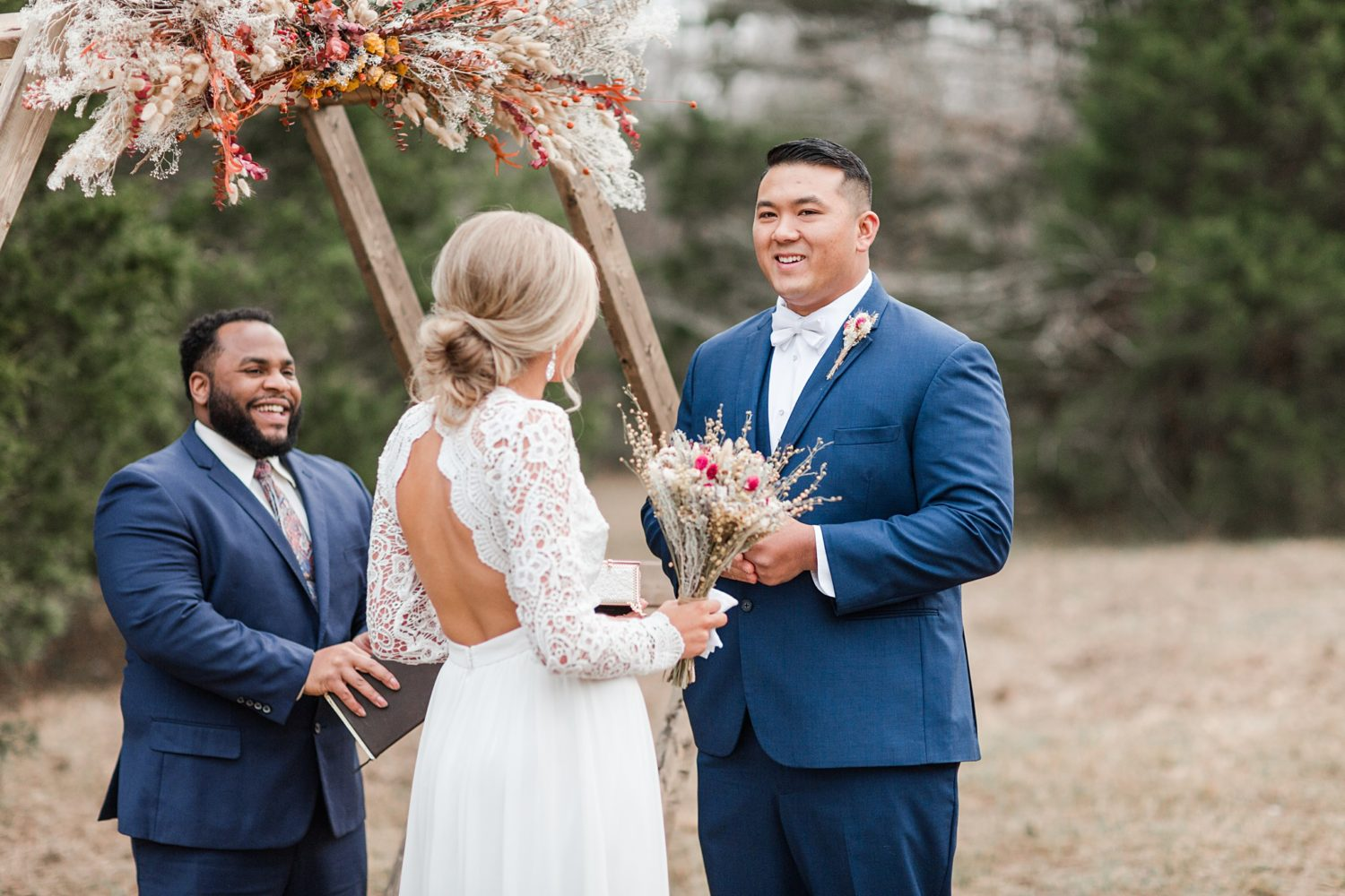 Emotional Winter Intimate Wedding in Oxford, Mississippi